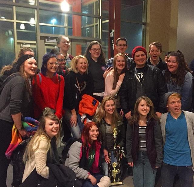 Theatre 3/4 after 1st place win at the Regional One Act Competition