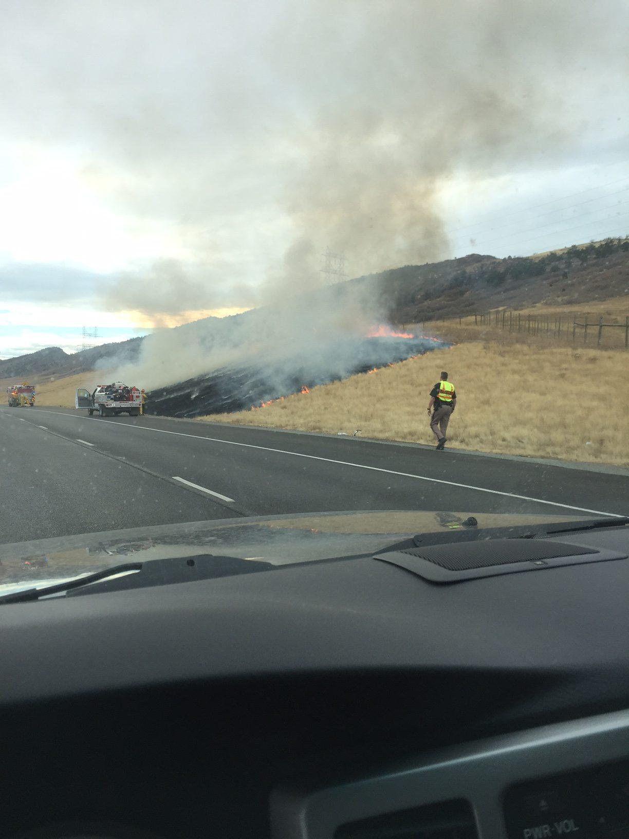 Fire on the side of the Road