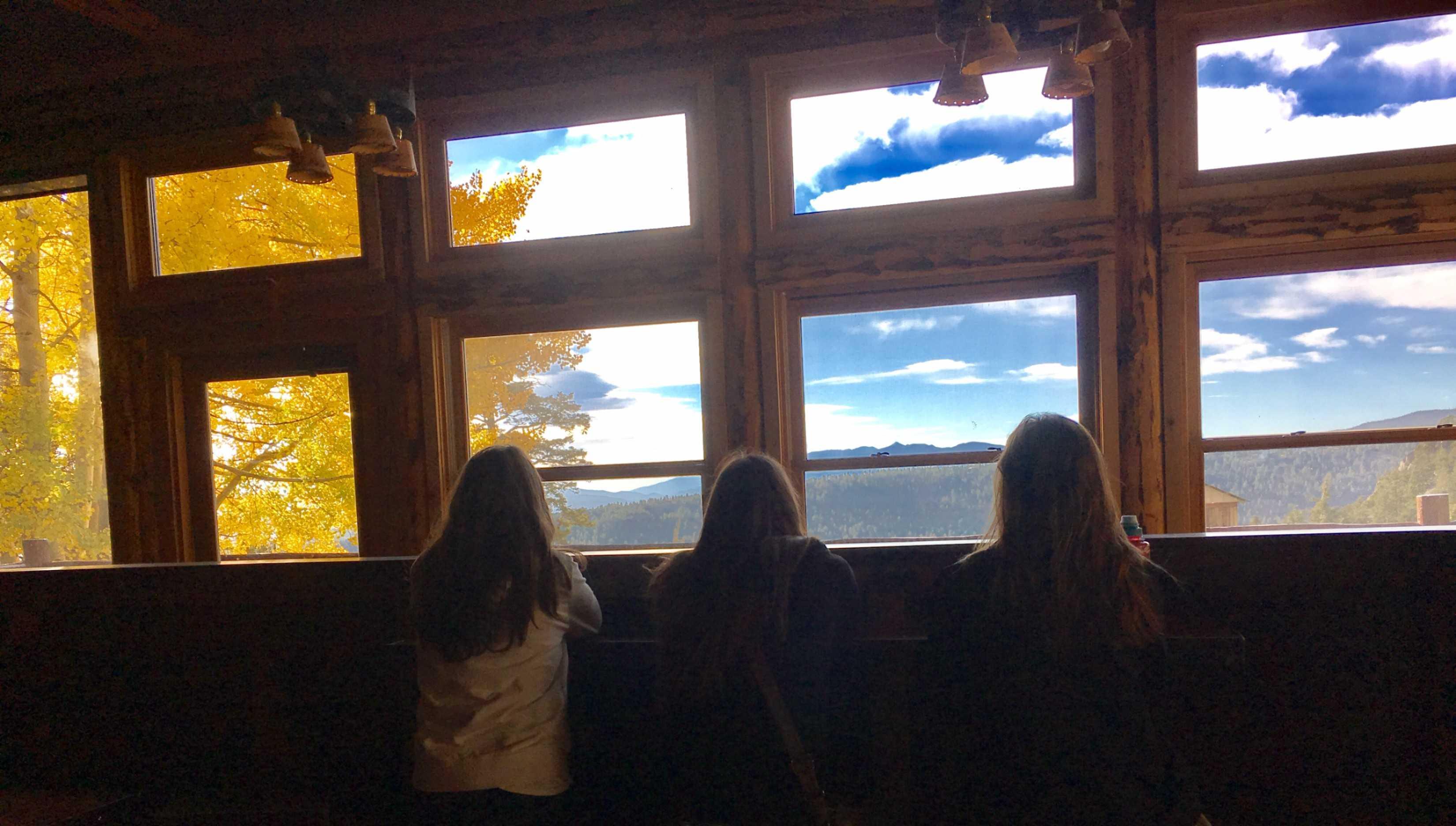 Emmas Brumm, Nicole De La Fuente, and Morgan Gatlin wishing to be back in the mountains
