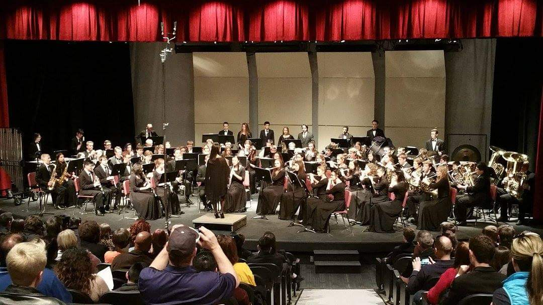 The AAHS Symphonic Band performing at the Regional competition in Parker. Photo courtesy of Air Academy Band