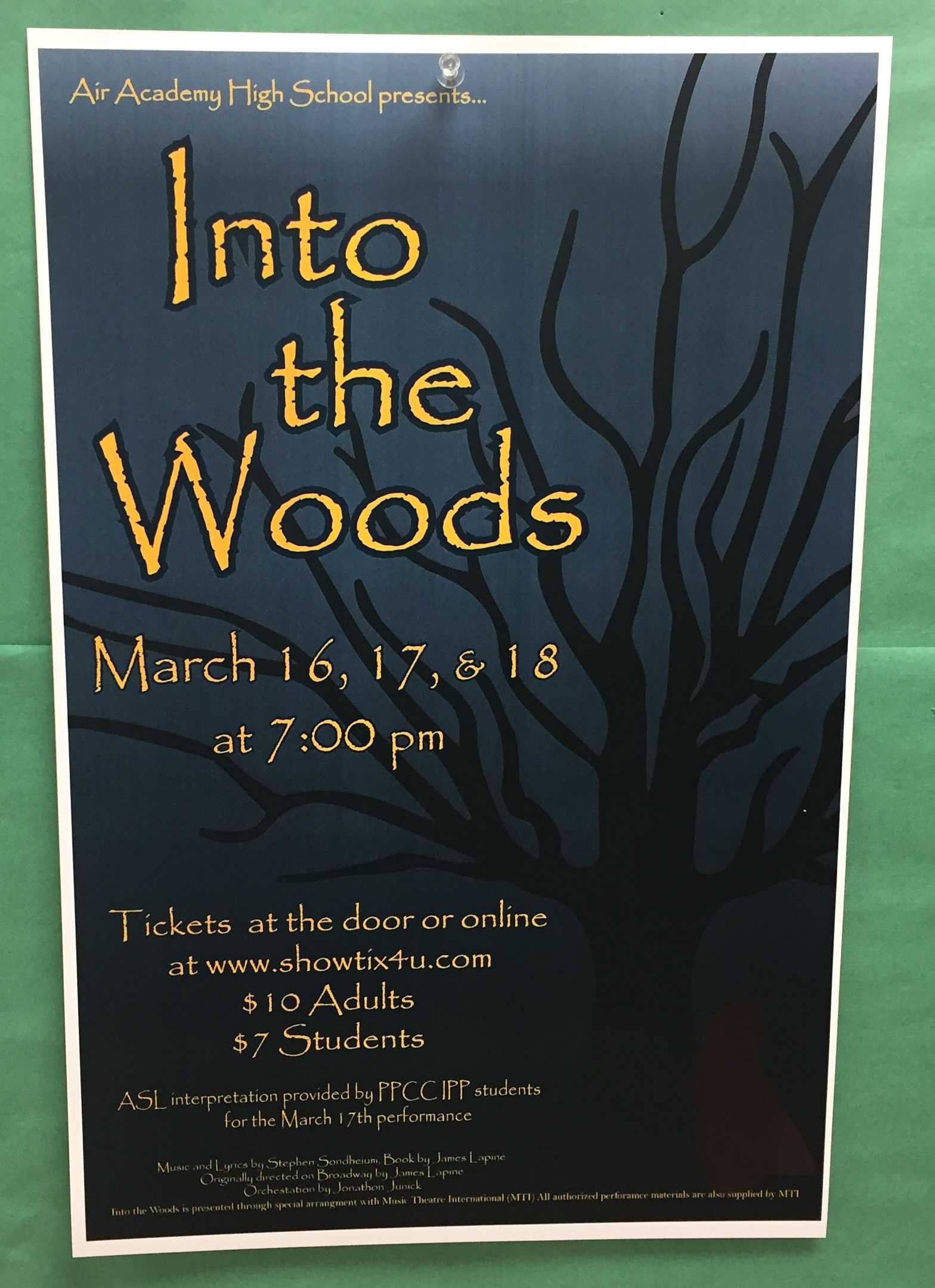 Go see AAHS presentation of Into The Woods