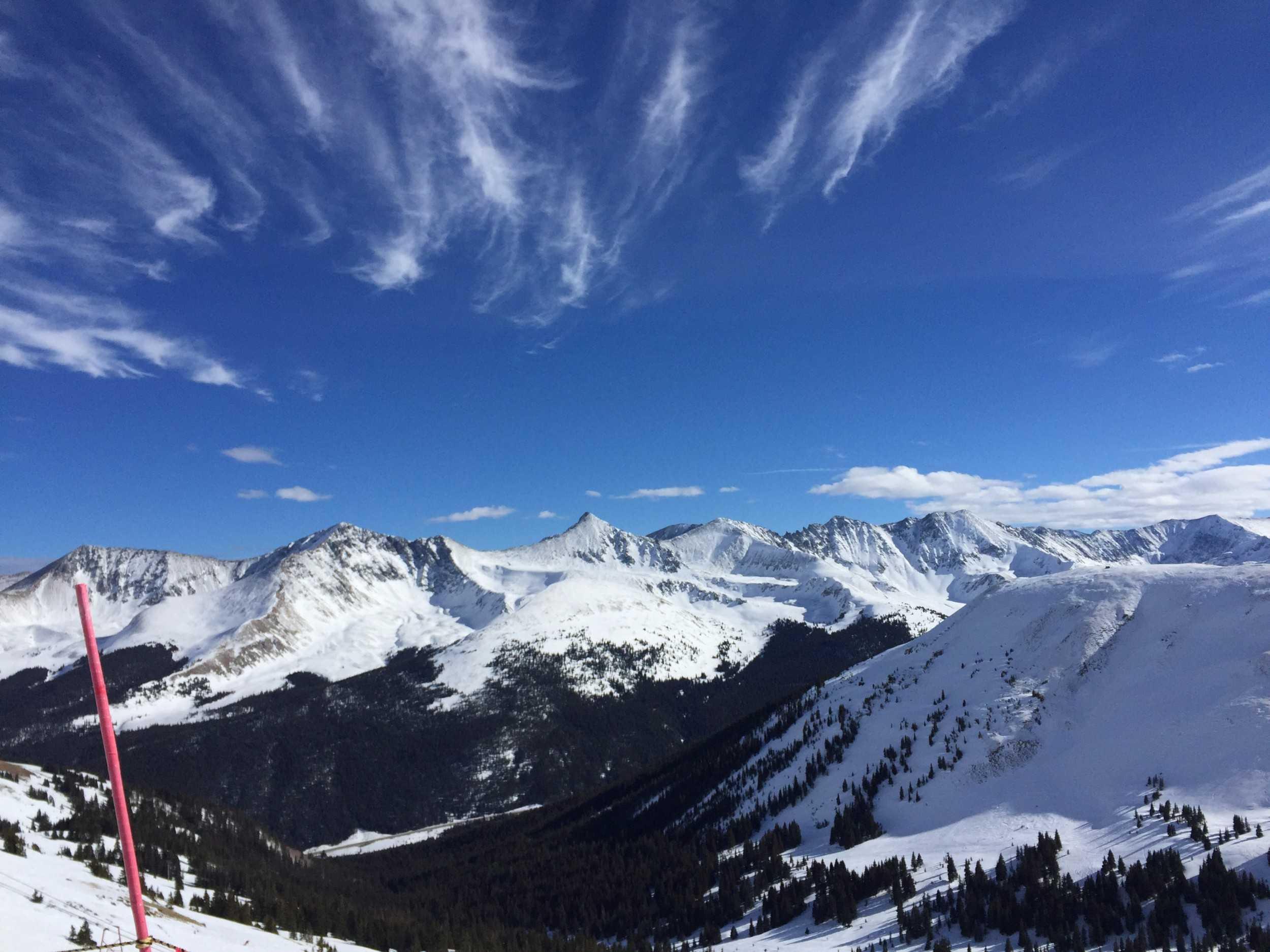 Beautiful Colorado mountains at copper ski resort