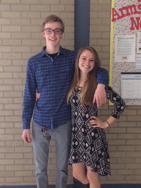 Cassidy Olsen and Luke Negley on Game Day