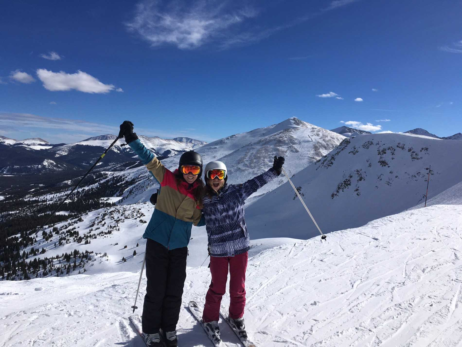Skiing in Breck