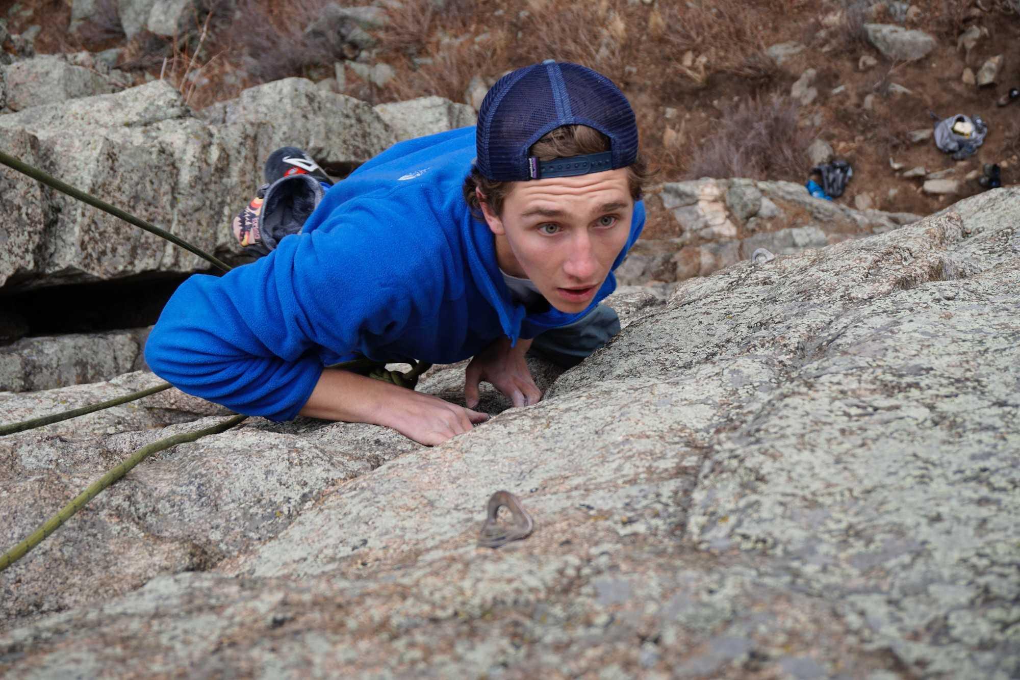Ryan Self Climbing in Boulder Canyon
