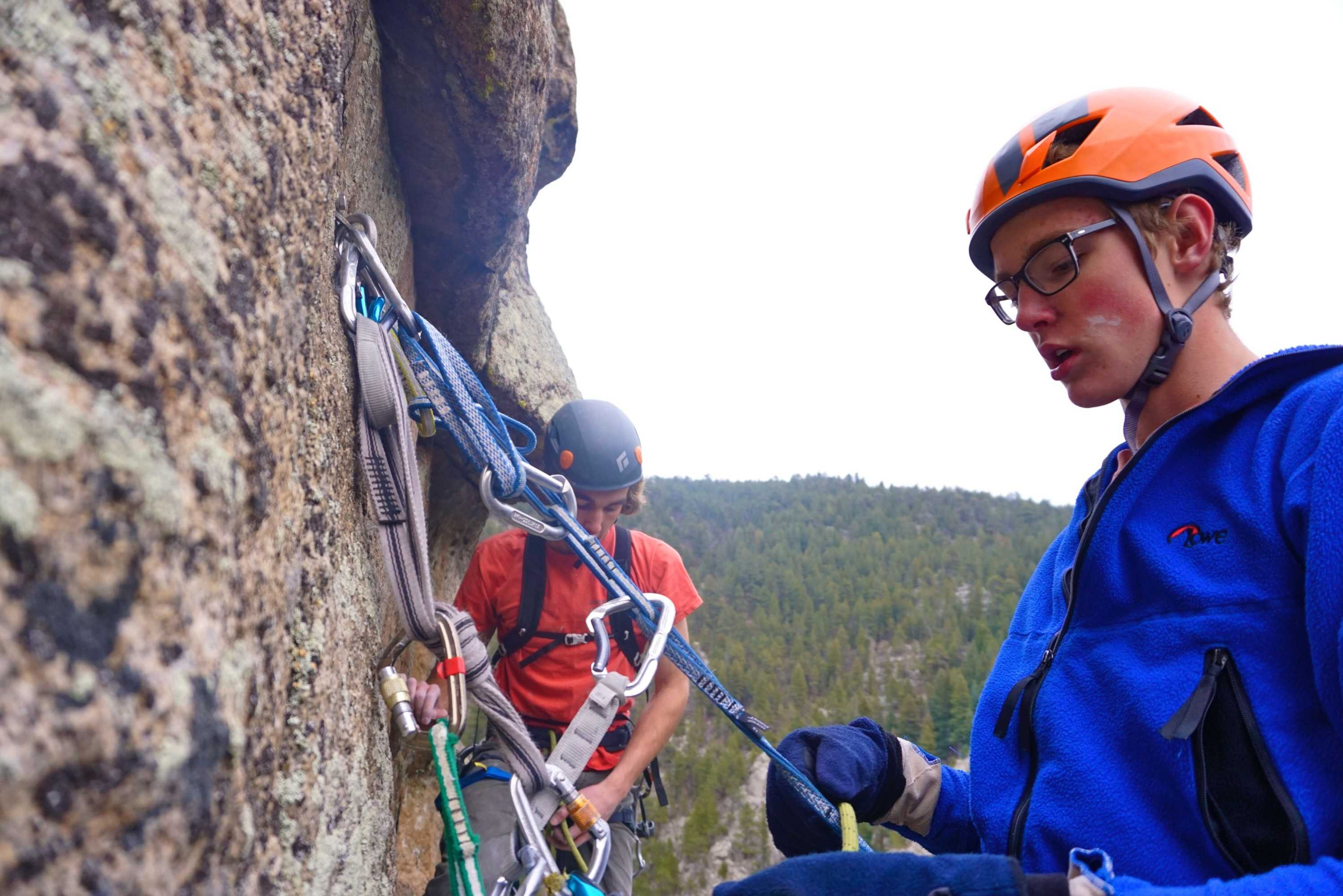 Luke Negley and Jack McConnell Climbing in Boulder Canyon