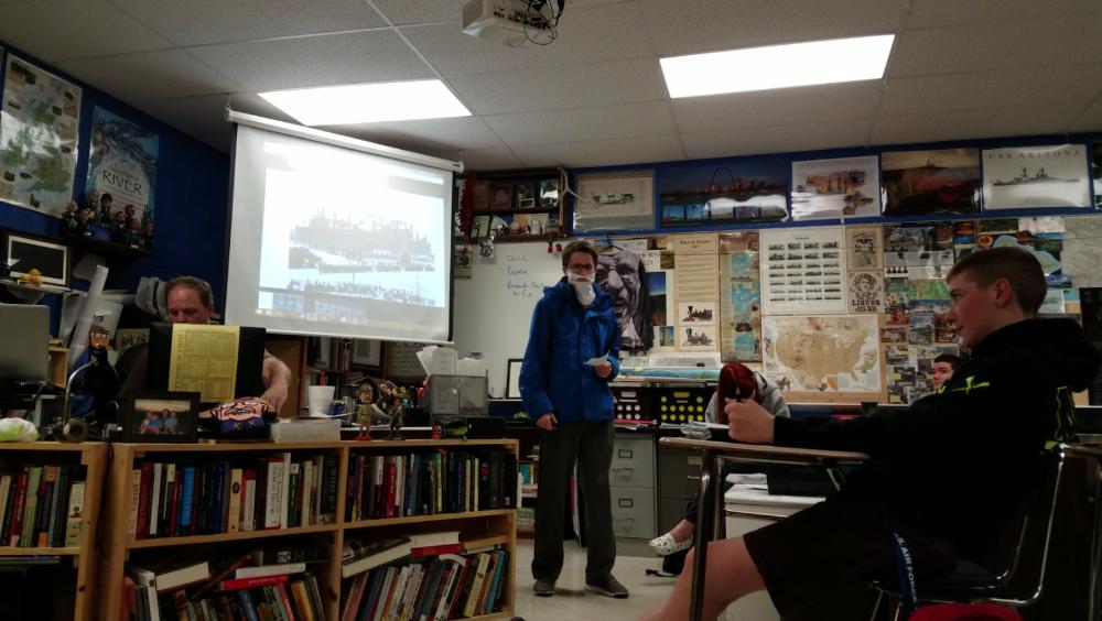 Brendan Rishavy dressed up as Lenin during APUSH presentations