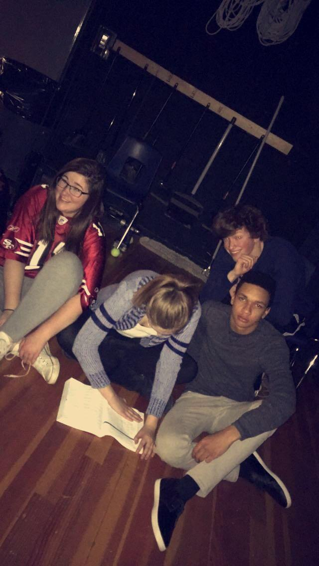 Backstage reality for Into the Woods with Ashlie, Katie, Nate, and Isaac
