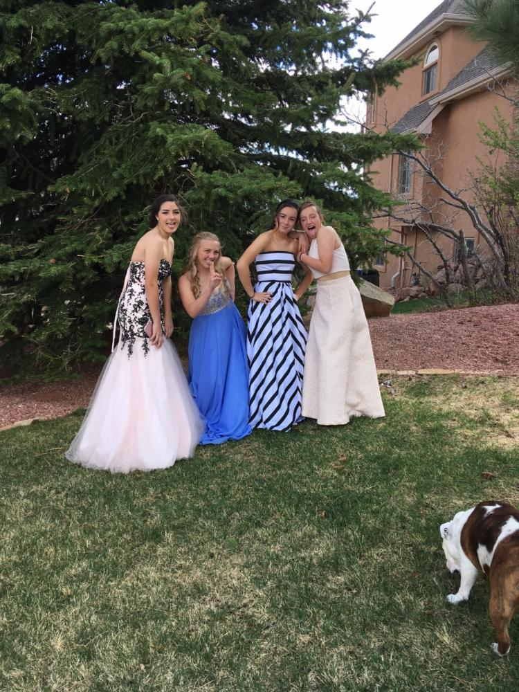 Several Students Pose Before Prom