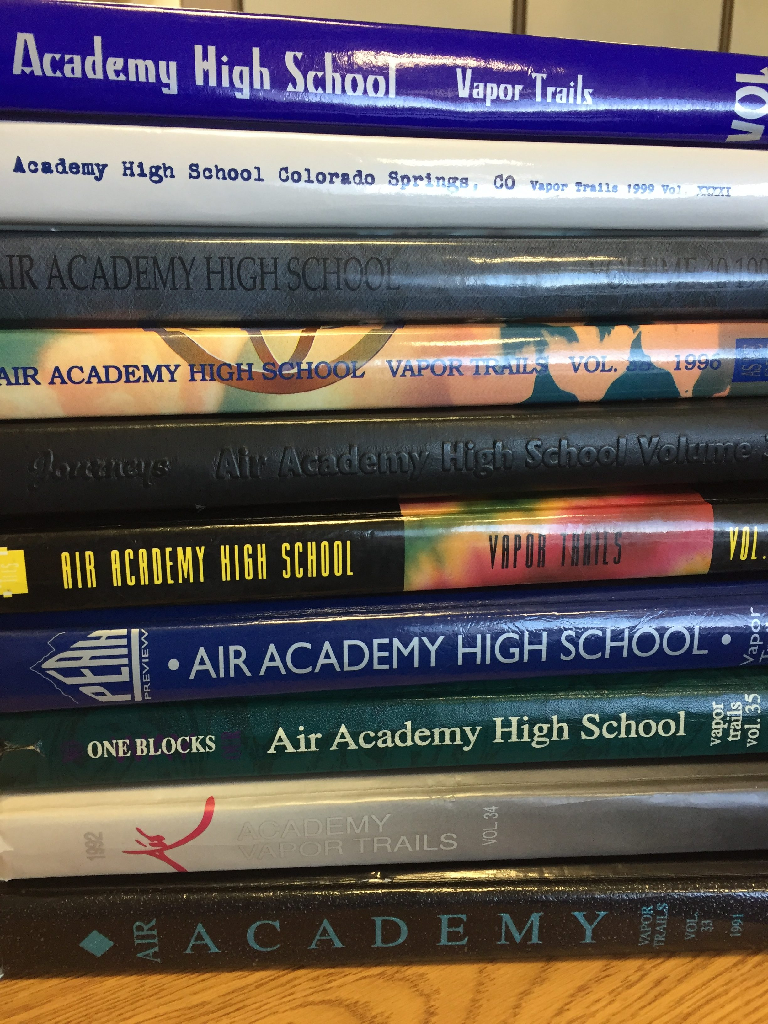 Old Air Academy High school yearbooks