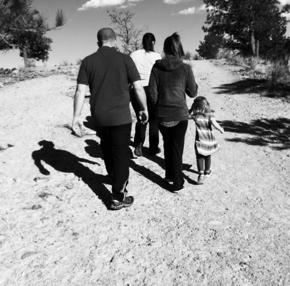 My beautiful family on a hike in Colorado Springs
