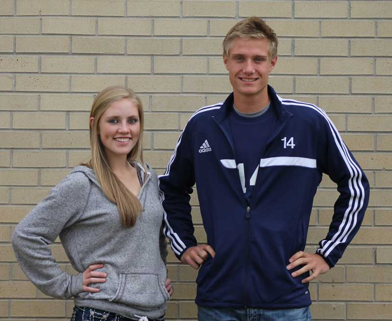 Athlete of the Month - Olivia Evans and John Sims