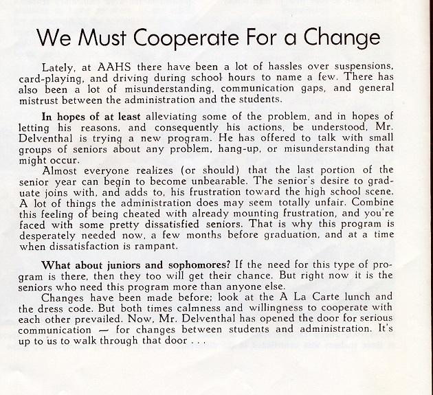 We Must Cooperate For a Change