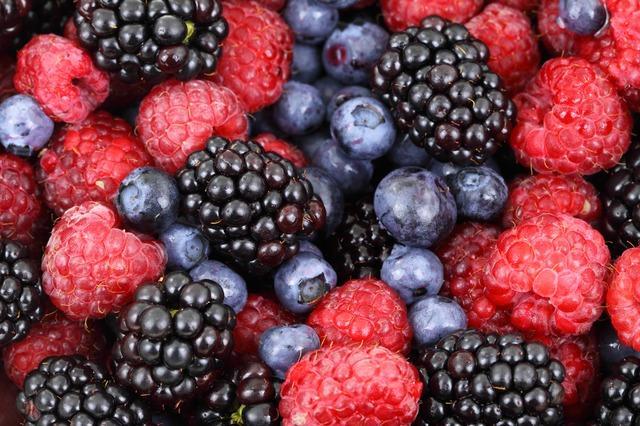 [Berries] Photo via Pixabay under the Creative Commons license [http://pixabay.com/en/background-berries-berry-2277/]
