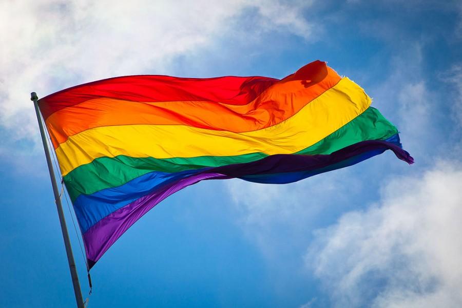 Rainbow flag.  Photo via Wikipedia.org under the creative commons license https://en.wikipedia.org/wiki/Same-sex_marriage#/media/File:Rainbow_flag_breeze.jpg