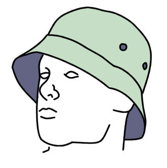 Boy wearing a hip bucket hat drawing. Photo via WIkimedia Commons under the Creative Commons License. https://commons.wikimedia.org/wiki/File:Bucket_hat_line_drawing.png