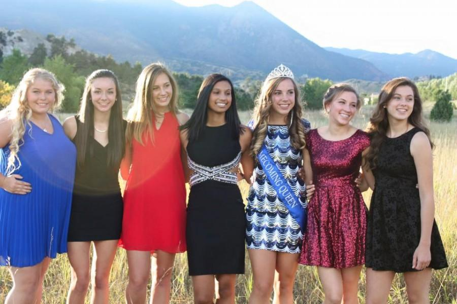 Another group of girls, all dressed up for homecoming. Photo used with permission from Amanda Brown.