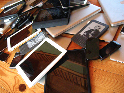 Bring your own device Photo via Wikimedia Commons under the Creative Commons License https://commons.wikimedia.org/wiki/File:Device_pile.jpg