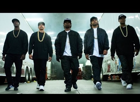 The stars of Straight Outta Compton. Photo via Flickr under the Creative Commons license. [https://www.flickr.com/photos/bagogames/15870522334]