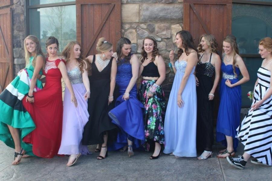 Seniors at prom. photo via Katie Rainsberger