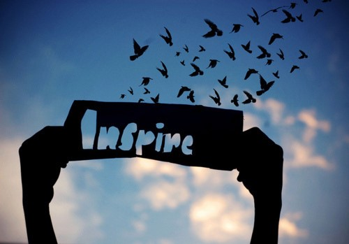 Inspire— a word that works in multiple ways. Used with permission from google images under the Creative Commons license. http://www.dreamachieversacademy.com/everyone-can-inspire/