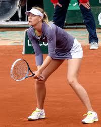 Maria Sharapova. Photo via WikiCommons under the Creative Commons license.https://commons.wikimedia.org/wiki/File:Sharapova_tennis_service_0826.jpg