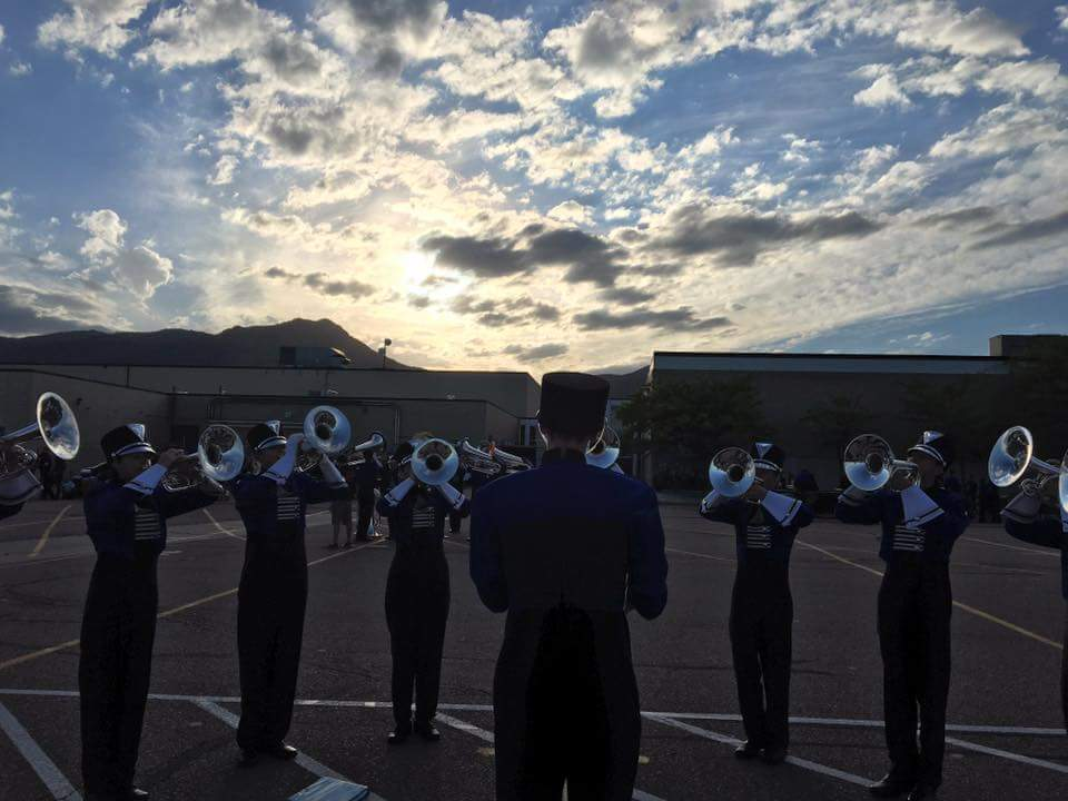 Air Academy's trumpets practicing