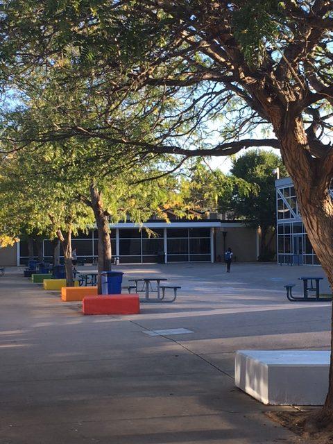 Air Academy's courtyard