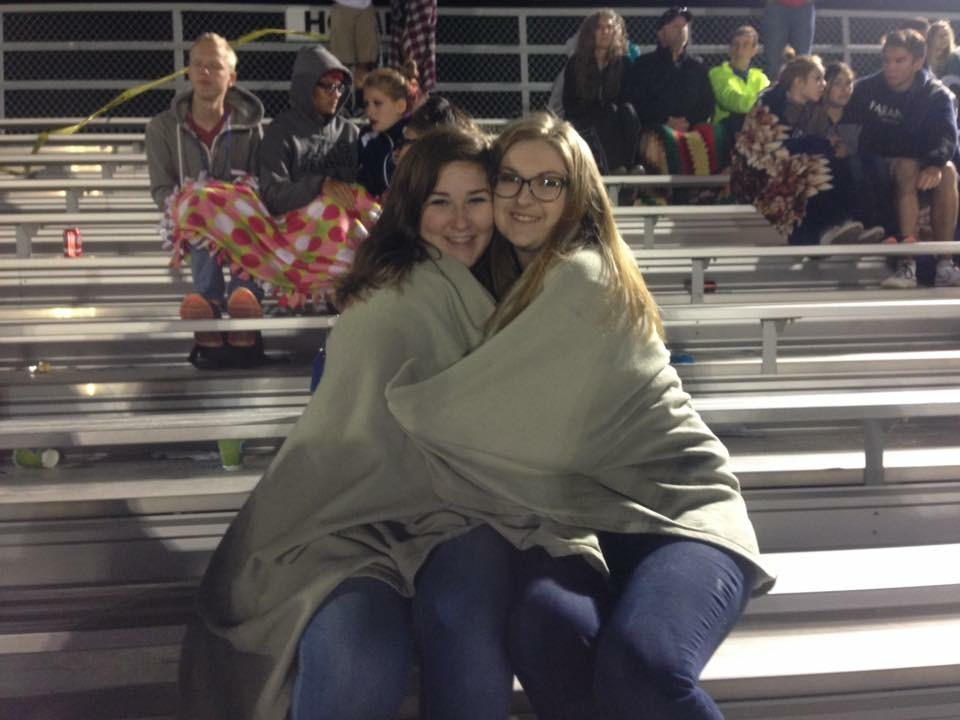 Cold night at the football game