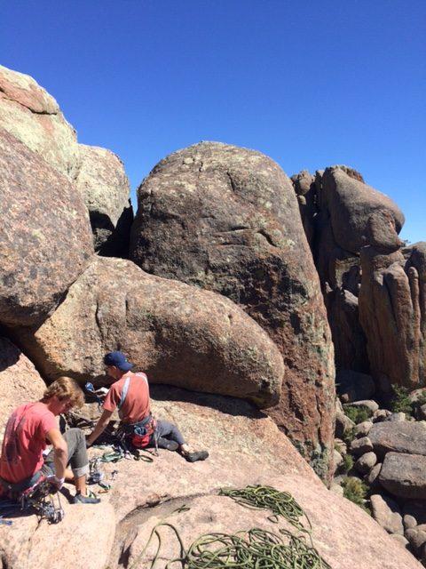 Luke Negley and Ryan Self climbing on Turkey Rocks