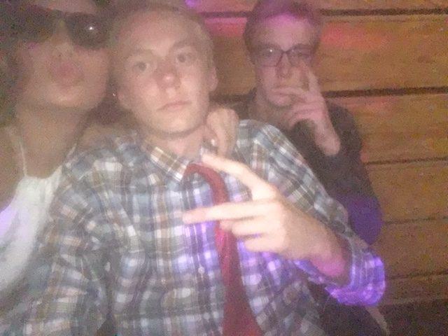 Kennedy Jamieson, Calvin Yocum, and Luke Negley enjoying homecoming
