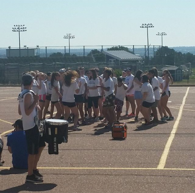 Air Academy's band practicing