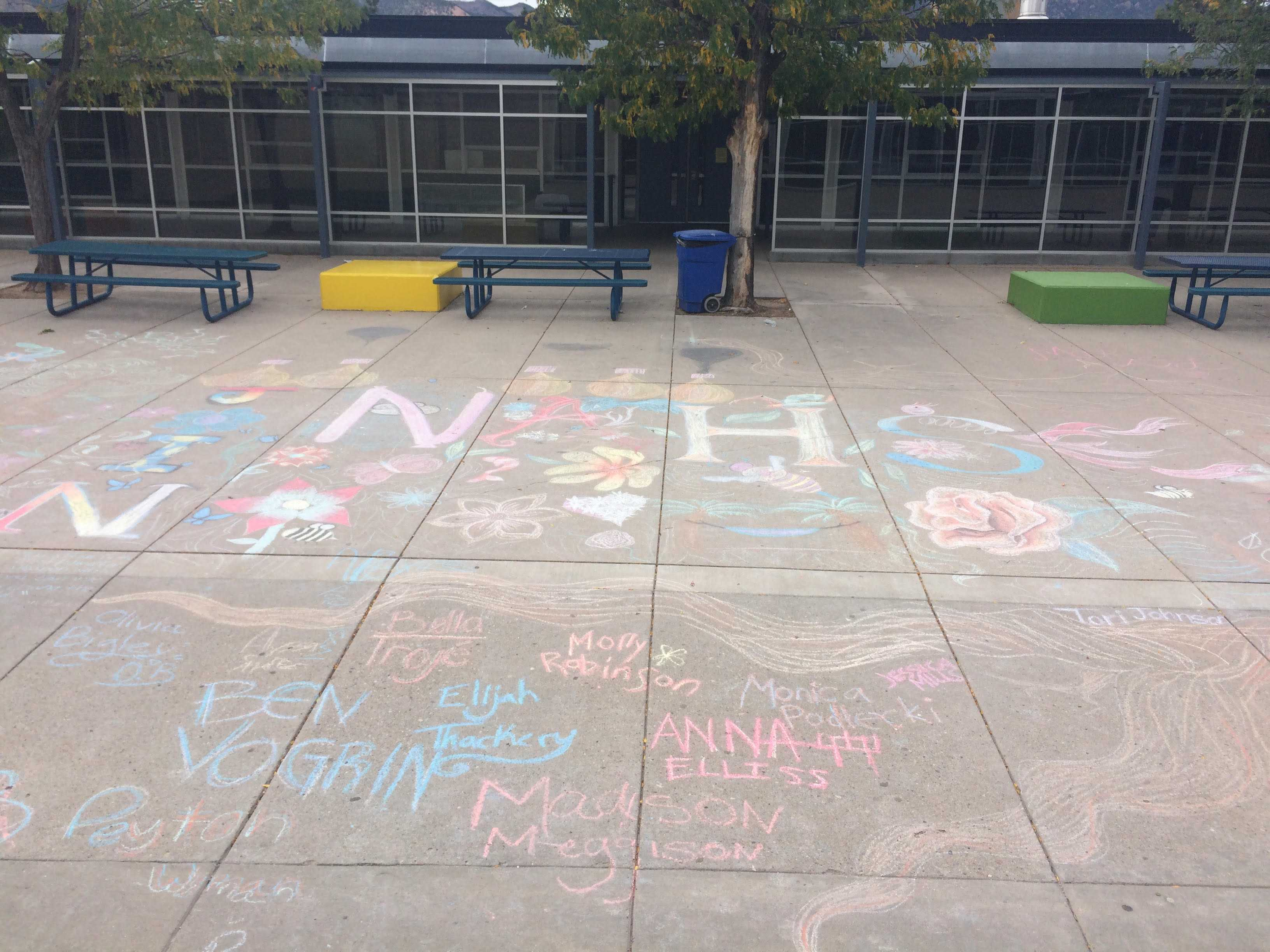 Air Academy's courtyard decorated by NAHS