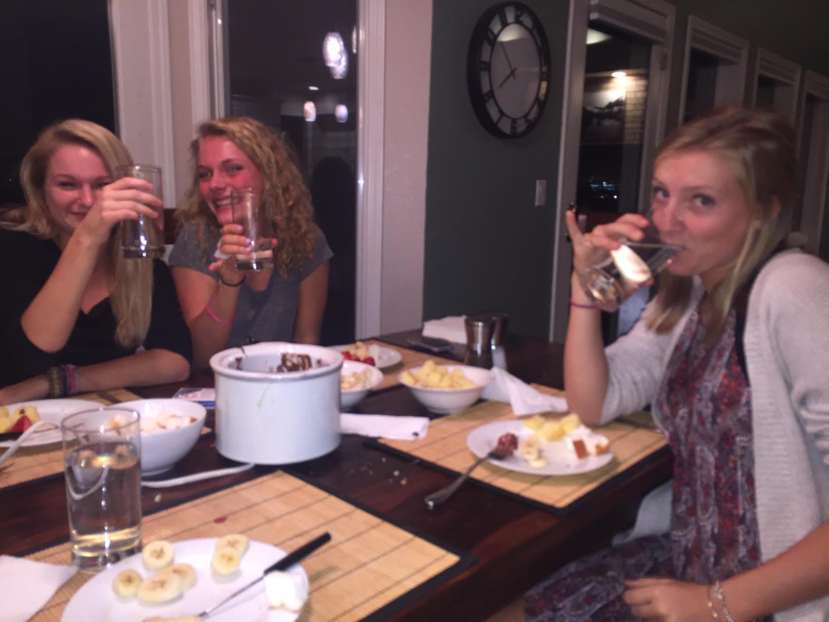 Juniors at dinner