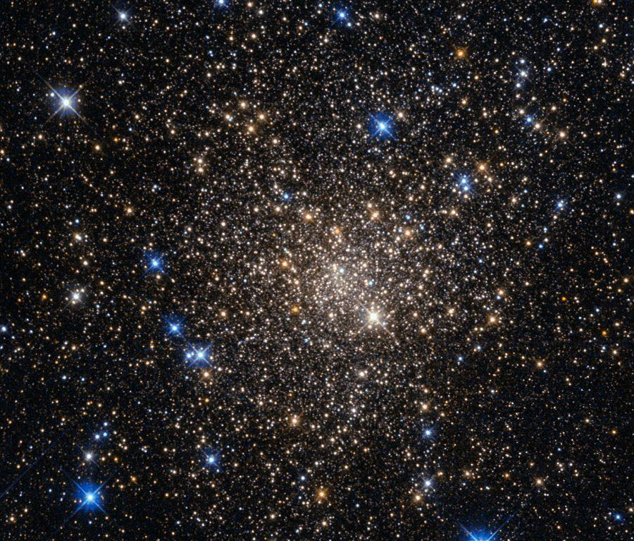 This image, taken with the Wide Field Planetary Camera 2 on board the NASA/ESA Hubble Space Telescope, shows the globular cluster Terzan 1.
