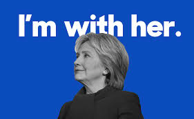 Im With Her. Photo used via Wikimedia under the Creative Commons license. https://commons.wikimedia.org/wiki/File:I%27m_With_Her_(blue).png