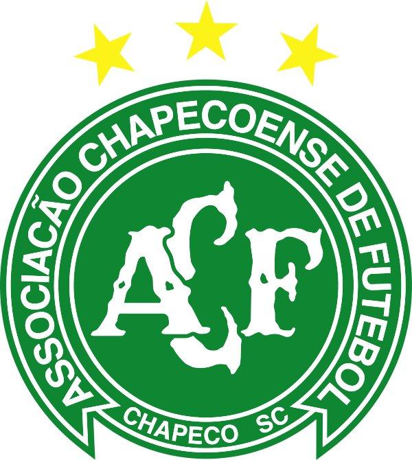 The Chapecoense soccer team logo Used under the creative commons license via https://commons.wikimedia.org/wiki/File:S%C3%ADmbolo_Chapecoense_com_duas_estrelas.svg