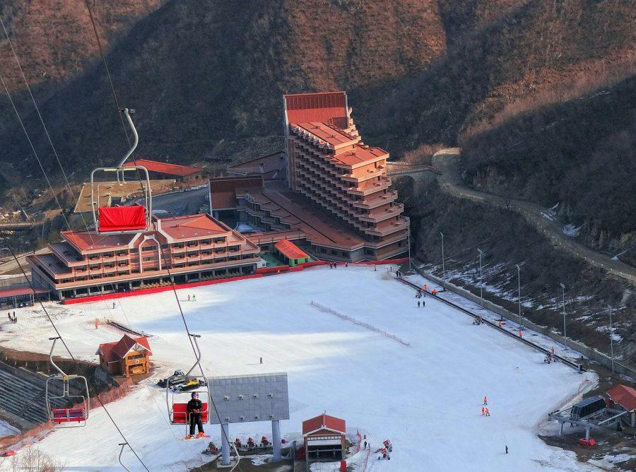 The base area and hotel of the Masikryrog Ski Resort