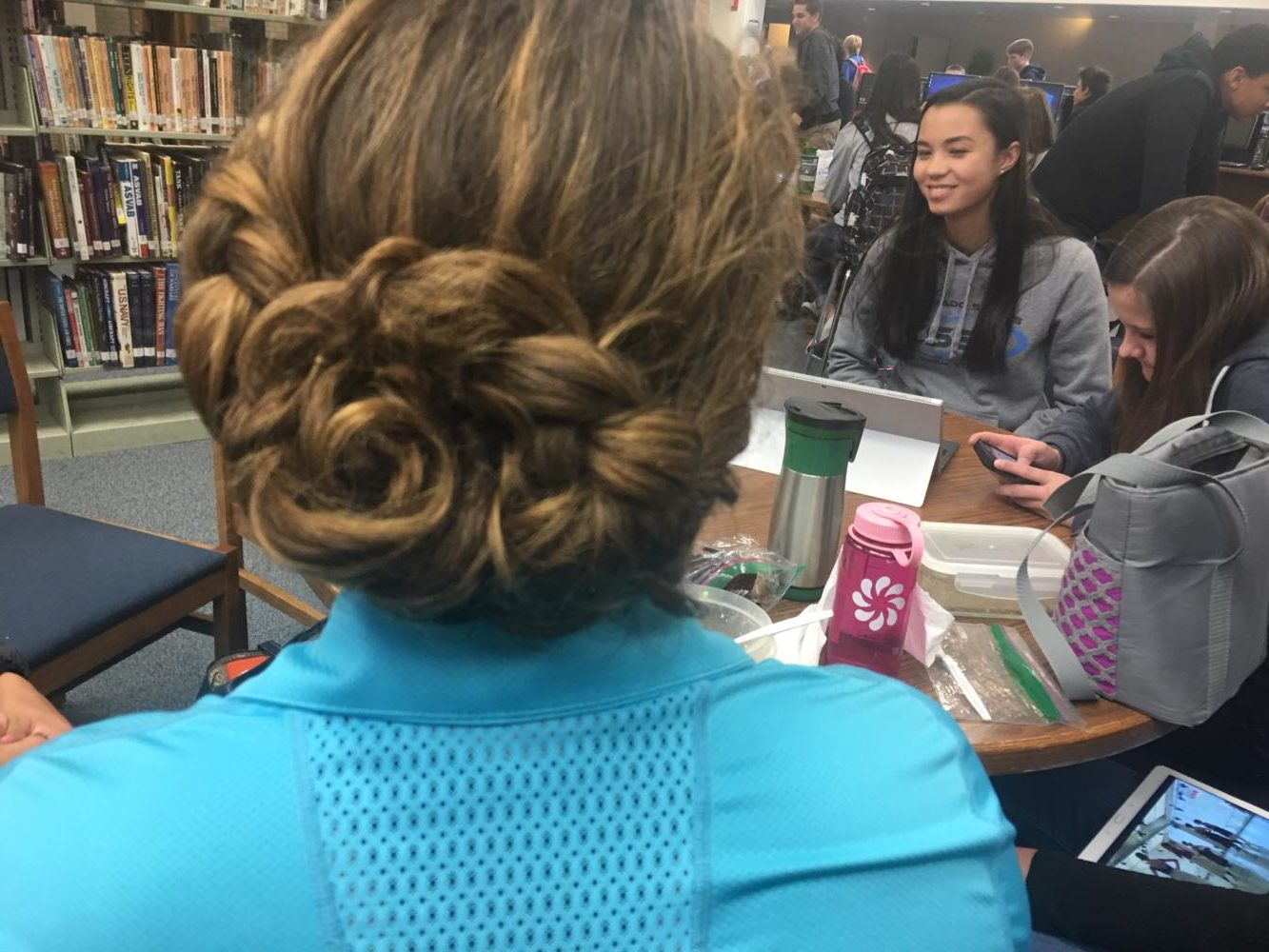 Kayla and Ryn braided my hair during lunch.