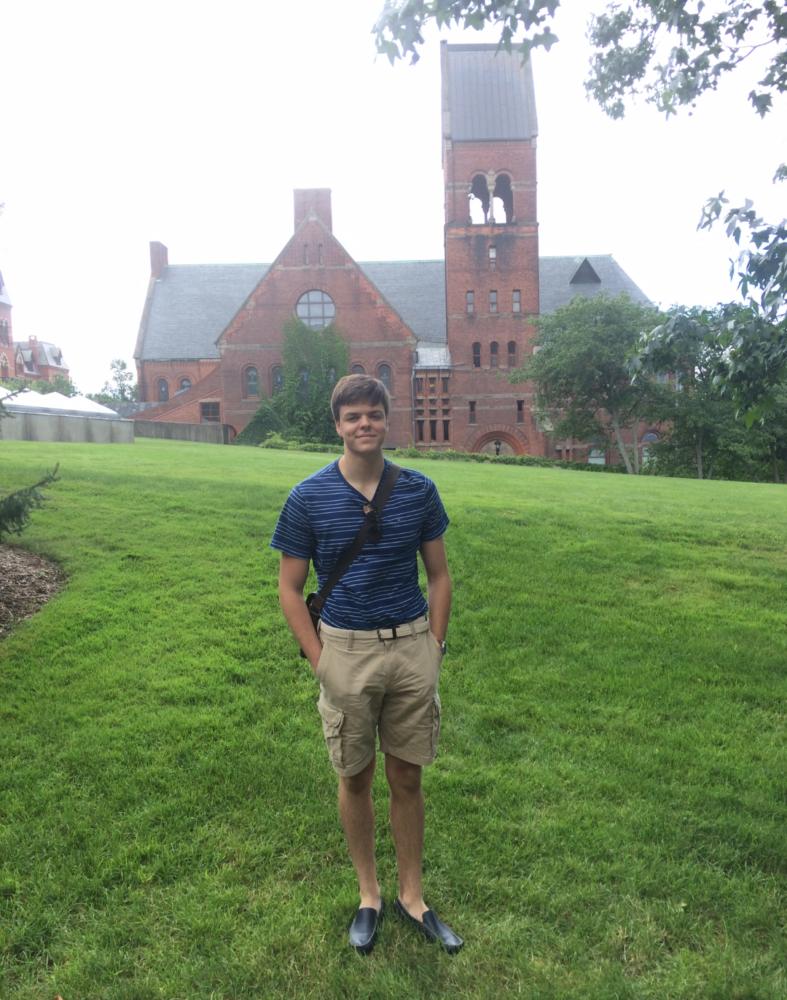 Viktor Zarev during a college visit at Cornell University, NY.