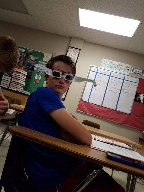 Brendan Rishavy being very productive in AP Physics