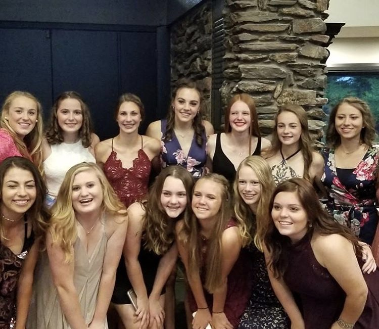 Layne Anderson joined with friends for homecoming!