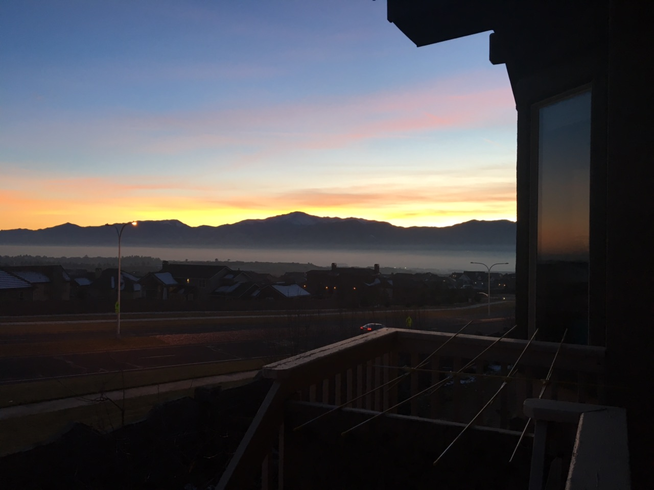 Another beautiful sunset in Colorado!