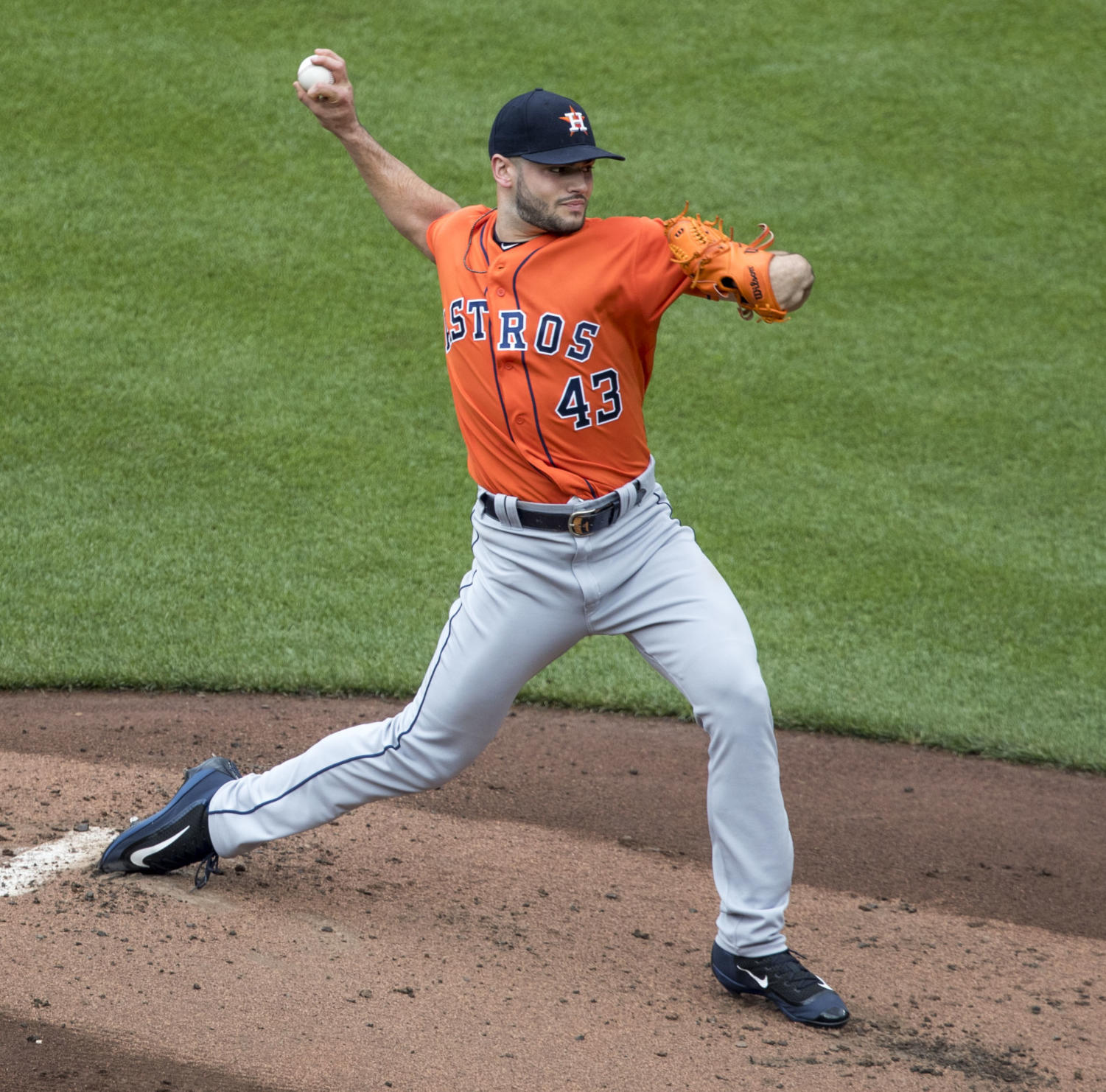 Lance McCullers pitching for the Houston Astros