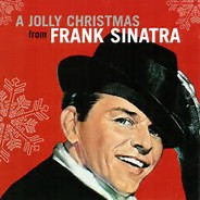 Frank Sinatras A Jolly Christmas album cover. Labeled for Reuse by Wikimedia Commons