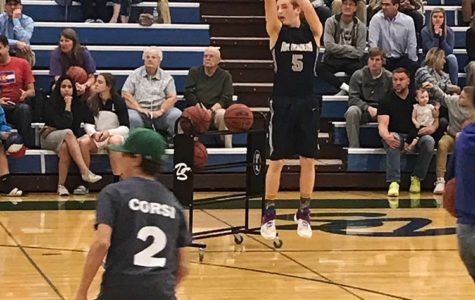From the Jetstream Archives; Basketball Player Brock Bendrick at the Three Point Contest in 2017, which shows life in basketball pre-pandemic.