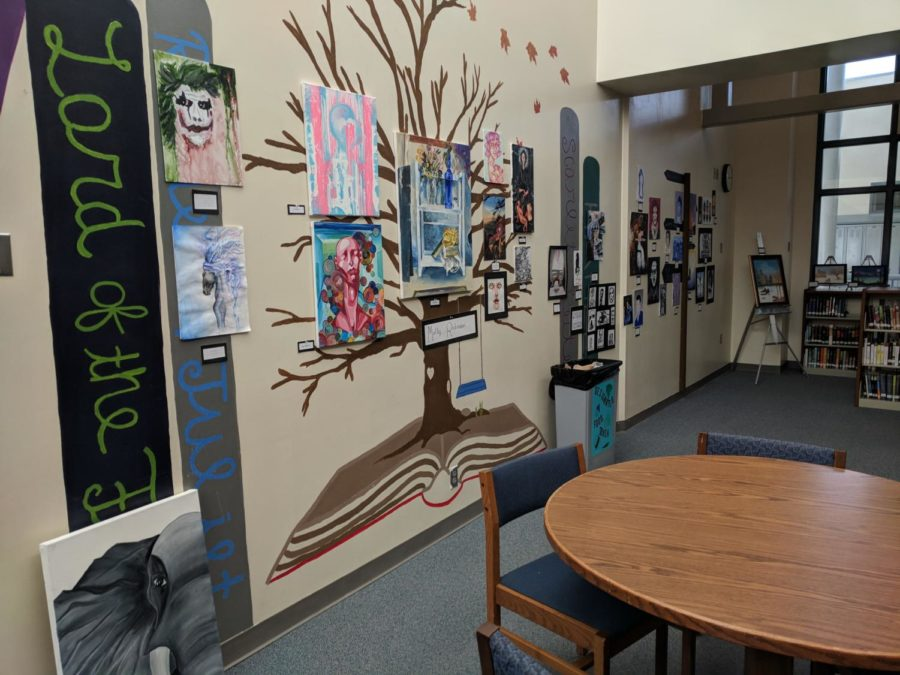 One section of the art showcase in the LMC