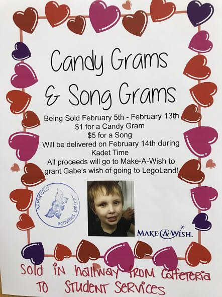 Buy candy and song grams to help support Gabe's wish to go to LEGO Land!