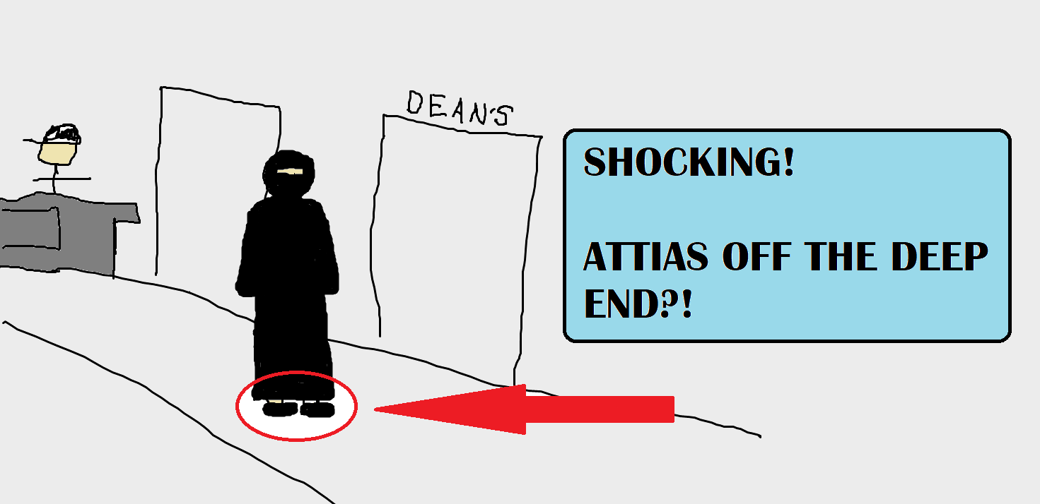 Artist rendition of shocking event.