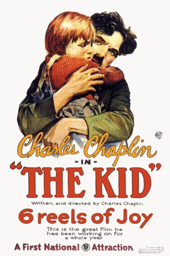 Charlie+Chaplin%27s+%22The+Kid%22+movie+display.+Labeled+for+reuse+by+Wikimedia+commons.